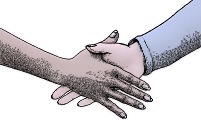: Image of a Handshake, Representing How Rozin-Golinder Law Can Help You or Your Client in a NJ Divorce Mediation or NJ Family Law Mediation. From Our East Brunswick Office, We Proudly Serve Middlesex, Monmouth, and Somerset Counties in New Jersey.